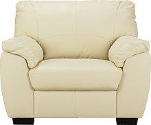 Argos Home Milano Leather Armchair - Ivory