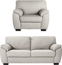 Argos Home Milano Leather Chair & 3 Seater Sofa -