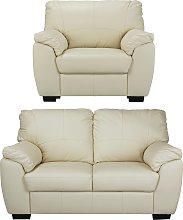 Argos Home Milano Leather Chair and 2 Seater Sofa