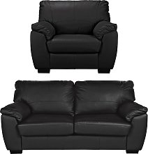 Argos Home Milano Leather Chair and 3 Seater Sofa