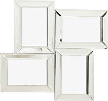 Argos Home Mirrored Multi Aperture Frame - Silver