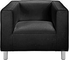 Argos Home Moda Faux Leather Armchair - Black