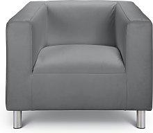 Argos Home Moda Faux Leather Armchair - Grey
