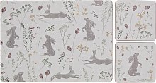 Argos Home Moorlands Hare Placemat and Coaster - 4