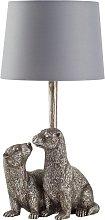 Argos Home Moorlands Otter Table Lamp - Chrome
