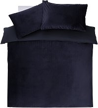 Argos Home Navy Chevron Velvet Bedding Set - Double