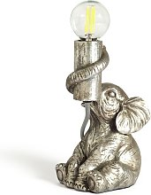 Argos Home Nelly the Elephant Table Lamp - Silver