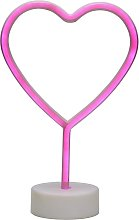 Argos Home Neon Heart Light - Pink