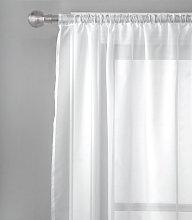 Argos Home Net Pencil Pleat Curtain - White