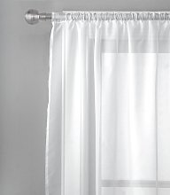 Argos Home Net Pencil Pleat Curtain - White