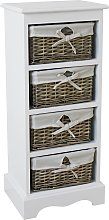 Argos Home New Malvern 4 Drawer Storage Unit -