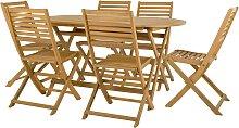 Argos Home Newbury 6 Seater Wooden Patio Set -
