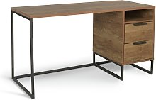 Argos Home Nomad 2 Drawer Desk - Oak Effect
