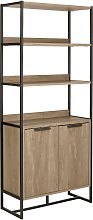 Argos Home Nomad Display Cabinet - Light Oak Effect