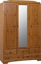 Argos Home Nordic 3 Door 5 Drawer Mirror Wardrobe