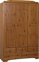 Argos Home Nordic 3 Door 5 Drawer Wardrobe - Pine