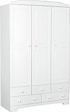 Argos Home Nordic 3 Door 5 Drawer Wardrobe - Soft