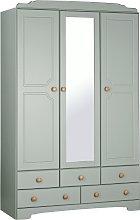 Argos Home Nordic 3 Dr 5 Drw Mirror Wardrobe -