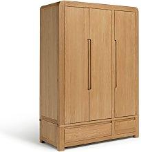 Argos Home Novara 3 Door Wardrobe - Oak & Oak