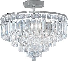Argos Home Olivia 3 Light Ceiling Fitting - Clear