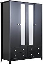 Argos Home Osaka 4 Door 4 Drawer Mirrored Wardrobe