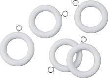 Argos Home Pack of 20 Wooden Curtain Rings - White
