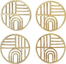 Argos Home Pack of 4 Sahara Metal Bar Coasters