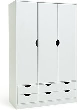 Argos Home Pagnell 3 Door 4 Drawer Wardrobe - White