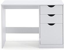 Argos Home Pagnell 3 Drawer Desk - White