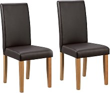 Argos Home Pair of Midback Dining Chairs -