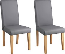 Argos Home Pair of Midback Dining Chairs - Grey