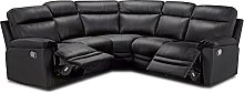 Argos Home Paolo Corner Manual Recline Sofa -Black