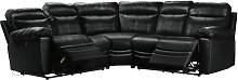 Argos Home Paolo Corner Power Recliner Sofa - Black