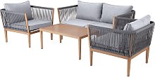 Argos Home Pascal 4 Seater Sofa Set
