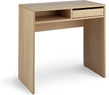 Argos Home Pepper 1 Drawer Desk - Oak Effect