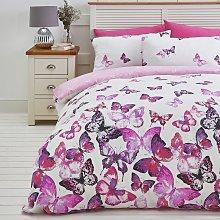 Argos Home Pink Trailing Butterflies Bedding Set -