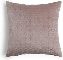 Argos Home Pinsonic Velvet Geometric Cushion Pink