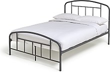 Argos Home Pippa Double Metal Bed Frame - Grey