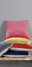 Argos Home Plain Matt Velvet Cushion - Blush Pink