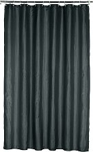 Argos Home Plain Shower Curtain - Jet Black