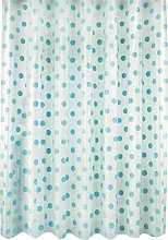 Argos Home Polka Dot Shower Curtain - Blue