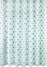 Argos Home Polka Dot Shower Curtain - Blue
