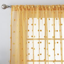 Argos Home Pom Pom Tab Top Voile Curtain Panel -