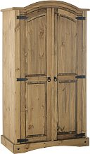 Argos Home Puerto Rico 2 Door Wardrobe - Dark Pine