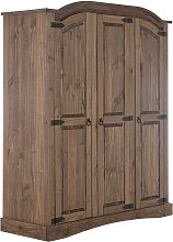 Argos Home Puerto Rico 3 Door Wardrobe - Dark Pine