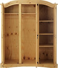 Argos Home Puerto Rico 3 Door Wardrobe - Light Pine