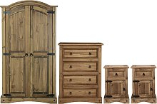 Argos Home Puerto Rico 4 Piece Wardrobe Set - Dark