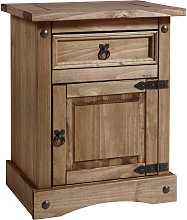 Argos Home Puerto Rico Bedside Table - Dark Pine