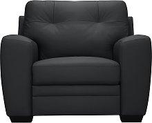 Argos Home Raphael Leather Mix Armchair - Black
