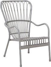 Argos Home Rattan Garden Chair - Grey